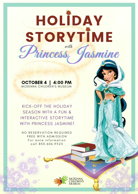 Downtown New Braunfels Holiday Storytime with Princess Jasmine