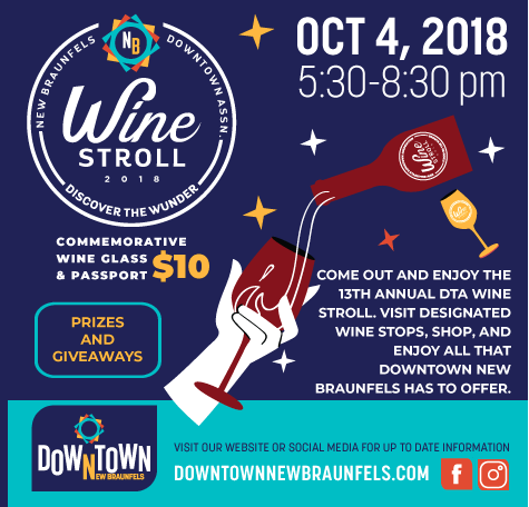 Downtown New Braunfels Annual Wine Stroll