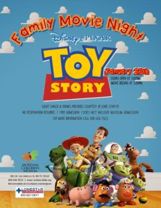 Downtown new braunfels McKenna family movie night toy story