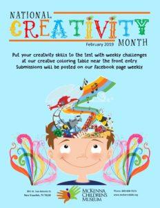 Downtown New Braunfels McKenna Children's Museum Creativity Month