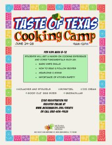 downtown New Braunfels taste of Texas cooking camp