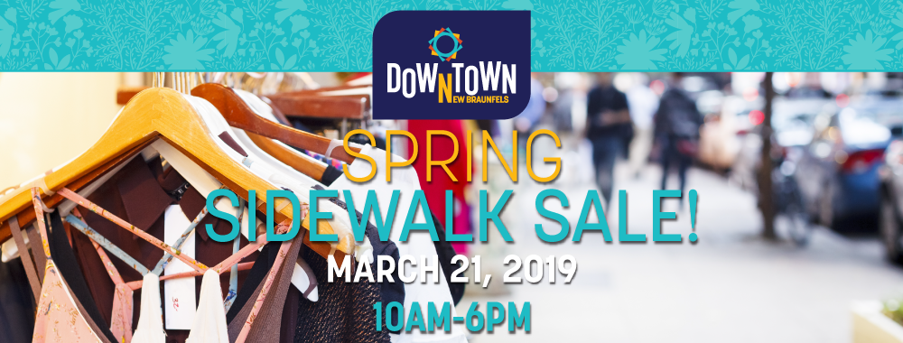 downtown New Braunfels Spring Sidewalk Sale