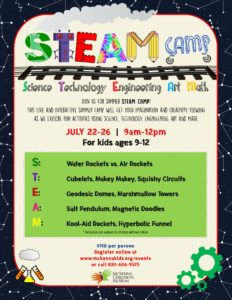downtown New Braunfels steam summer camp